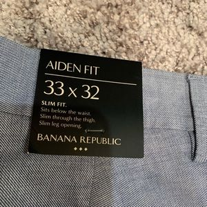 Banana Republic (NWT) Aiden Fit slacks 33X32